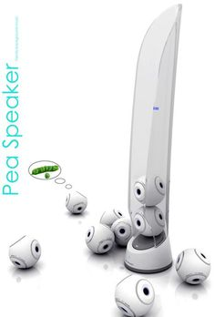 Pea Speaker --- little bluetooth-connected speakers so that…