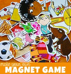 Toddler Activities: Make Your Own Magnet Game
