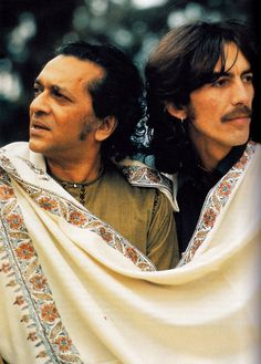 A tribute to Ravi Shankar. Here he is with George Harrison. #Celeb