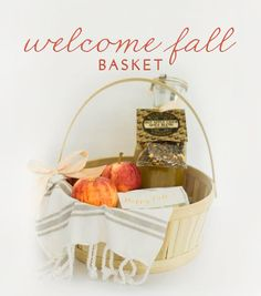 "An Easy ""Welcome Fall"" Hostess Gift   theglitterguide.com"