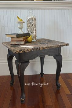I have a couple of tables that need some TLC. I plan on redoing to tops and using them as end tables in the living room.  DIY: Burlap Topped Table tutorial.  Burlap; upholstery tacks; spray primer & paint; polyurethane.