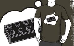 Black Brick T-shirt by Bubble-Tees.com by Bubble-Tees