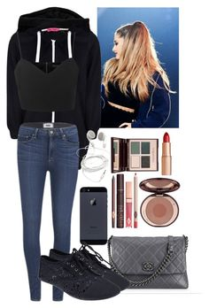 """Untitled #31"" by tinaisapenguin ❤ liked on Polyvore featuring Boohoo, Paige Denim, Topshop, Chanel, Wet Seal, Charlotte Tilbury, StreetStyle and arianagrandestyle"
