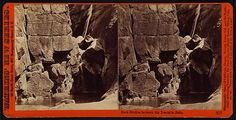 Rock studies between the Yosemite Falls. Carleton Watkins