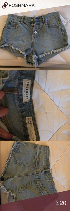 Bullhead Co. Jean Shorts light blue shorts with 4 buttons; worn twice Bullhead Shorts Jean Shorts