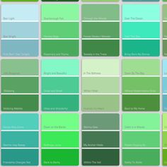 Green Color Names Palette