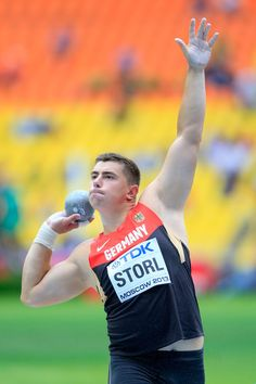 David Storl of Germany competes in the Men's Shot Put qualification during Day Six of the 14th IAAF World Athletics Championships Moscow 2013 at Luzhniki Stadium on August 15, 2013 in Moscow, Russia.