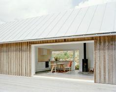 Vertical timber cladding