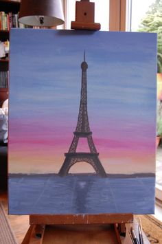 My painting of the Eiffel Tower for a friend :)