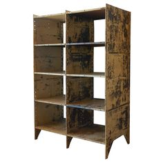 Industrial Shelving , New England | From a unique collection of antique and modern bookcases at http://www.1stdibs.com/furniture/storage-case-pieces/bookcases/