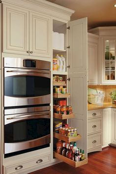 Kitchen Cabinet Ideas - CLICK THE PICTURE for Various Kitchen Ideas. #kitchencabinets #kitchenstorage