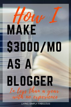 I spent most of my first year of blogging lost and broke. I didn't know how to monetize my traffic except for Adsense, which paid me only pennies. Then I decided to invest in my blog and took a course that changed my blog from a hobby to a business. Through the strategies covered in this course, I was able to increase my blogging income from $0 to $3,000 a month.