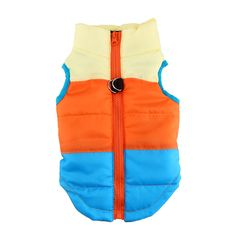 Colorful Cute Puppy Pet Dog Cat Winter Warm Coat Padded Vest Jacket Costumes Comfortable Clothes XS-L