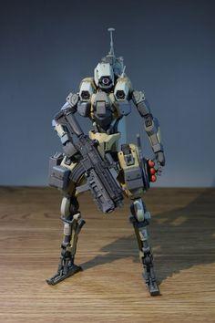 Mechaddiction — 大光明株式會社: Daikon29's Dust devil #mecha –... Arte Ninja, Arte Robot, Cyberpunk Rpg, Mecha Suit, Humanoid Robot, Gundam Custom Build, Cool Robots, Star Wars Droids, Robot Concept Art