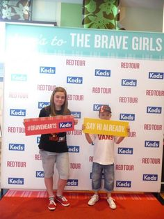 > we had fun in the Keds booth at the RED tour on Thursday! Red Keds, Brave Girl, Red Tour, Those Were The Days, Say Hi, Thursday, Tours, Sayings, Fun