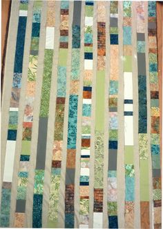 Beach glass quilt