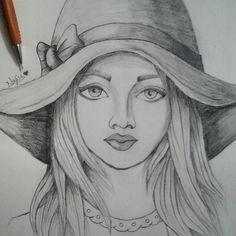 Pencil Drawings Of Flowers, Pencil Drawings Of Girls, Disney Drawings Sketches, Pencil Sketch Drawing, Girl Drawing Sketches, Girly Drawings, Art Drawings Sketches Simple, Cartoon Drawings, Indian Art Paintings