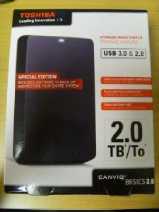 Amazon.com: Toshiba 2TB Portable Hard Drive with USB 3.0 and Full System Backup function: Computers & Accessories
