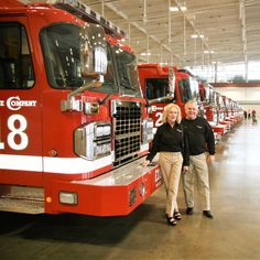The Nashville Fire Department's lineup of Toyne Pumpers.