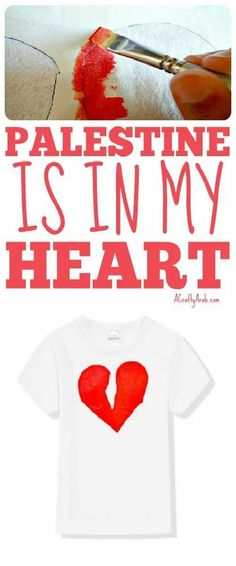 Make this t-shirt with Palestine in the middle of a heart. Ramadan Crafts, Ramadan Decorations, Projects For Kids, Crafts For Kids, Art Projects, T Shirt Tutorial, Arabic Lessons, Valentines Day Activities, Freezer Paper