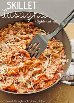 A super simple skillet lasagna recipe for busy nights.