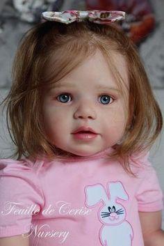 Feuille de Cerise Nursery - reborn toddler girl Lilly Kit by Regina Swialkowski Reborn Child, Reborn Toddler Girl, Child Doll, Reborn Baby Dolls, Girl Dolls, Real Life Baby Dolls, Life Like Babies, Beautiful Dolls, Beautiful Babies