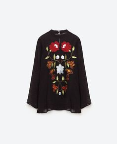 Image 8 of EMBROIDERED PLUMETIS BLOUSE from Zara