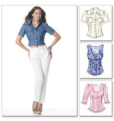 McCall's 6285 from McCall's patterns is a misses top sewing pattern