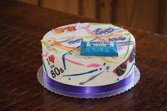 '80s themed birthday cake Adult Birthday Cakes, Themed Birthday Cakes, Desserts, Food, Tailgate Desserts, Deserts, Birthday Cakes For Adults, Essen, Postres