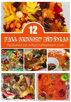 12 Fascinating Fall Sensory Bin Ideas for Small World Play Fall Sensory Bin, Sensory Tubs, Sensory Boxes, Sensory Activities, Sensory Play, Infant Activities, Infant Sensory, Multi Sensory, Sensory Diet