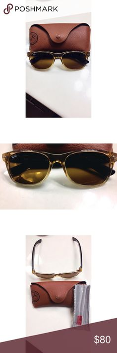 Women's RayBan RB2132 Wayfarer 🕶 NWOT authentic RayBan style RB2132 light brown women's sunglasses. Comes with original case and cleaning cloth. Not polarized. Ray-Ban Accessories Sunglasses