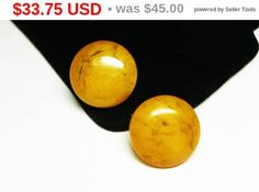 New Listings Daily - Follow Us for UpDates -  Inventory Reduction Sale - Reduced 25% Butterscotch #Bakelite Earrings - Button Style Clip ons - #Vintage Mid Century Round Design - Vintage Mid Century offered by TheJewelSe... #vintage #jewelry #teamlove #etsyretwt #ecochic #butterscotch #golden #thejewelseeker #bakelite ➡️ http://etsy.me/2tqsU37