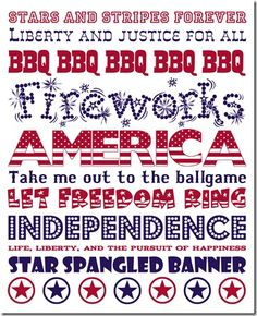 Subway art patriotic Fourth of July Free Printable Art, Free Printables, 4th Of July Party, Fourth Of July, Christmas Subway Art, Doodle, Happy Birthday America, Let Freedom Ring, Free Christmas Printables