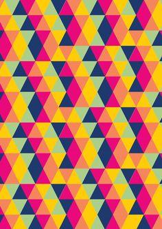 Triangular patter designs by Robert Tenorio, via Behance