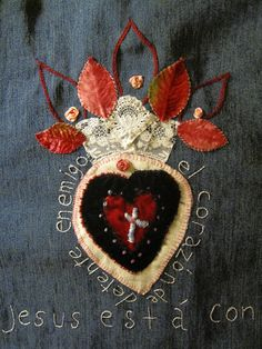 fb0b753de3c3 Sacred Heart of Jesus Embroidery Applique Day 4 EXPLORED
