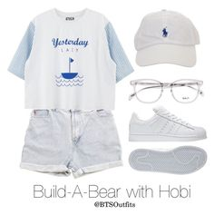 Build-A-Bear with Hobi by btsoutfits on Polyvore featuring polyvore fashion style adidas Levi's clothing