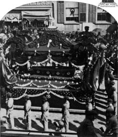 Pictures of President Lincoln's funeral