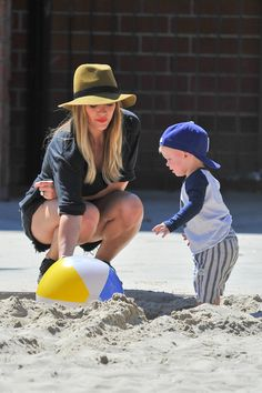 Hilary Duff and her little sidekick hit the park