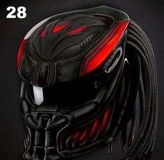 THE MOST PREDATOR HELMET MOTORCYCLE CUSTOM DOT APPROVED #Unbranded #Predator