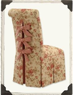 SCROLLBACK SLIPPER CHAIR (FRANCINE) - Your fabric welcome! These genuinely feminine perches will pull up to vanities, game tables and dining tables or stand alone as decorative room accent in any fabric of your choosing.