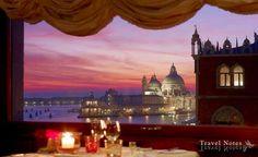 """Travel Notes: """"Venezia è come mangiare un'intera scatola di cioccolata al liquore in una sola volta.""""  Photo: Cena a Venezia alla splendida Terrazza Danieli sul Canal Grande."""