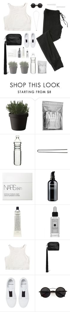 """""""Sunday, stay motivated"""" by minorseventh ❤ liked on Polyvore featuring Muuto, MILK MAKEUP, Sagaform, Hershesons, NARS Cosmetics, Grown Alchemist, The Row, Pierre Hardy, Chicnova Fashion and Topshop"""