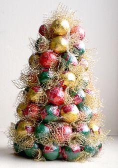 cómo hacer dulces árbol de Navidad - Ideas artesanías - artesanías para niños