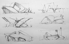 Architecture sketching | 115 фотографий