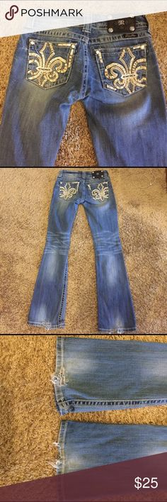 Miss Me Jeans Has some wear on the bottom (see pic).... super comfy and still has lots of use in them. Miss Me Jeans Boot Cut