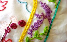 The chain stitch is a fun & versatile embroidery stitch that can be used for outlining, adding a border, or filling hand embroidery designs. Learn how to do it here!