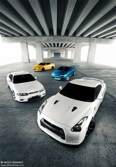 Nissan GTR - 4 Generations. | Photo by Mitch Hemming Photography on Flickr.