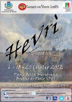 Hevrì - rassegna di teatro musica e poesia che abbiamo realizzato a Teolo (Pd)