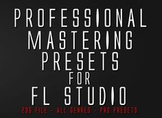 Professional Mastering Presets for FL Studio - Fruity Loops - Easy mastering Bigfoot Photos, Fruity Loops, Lightroom Presets, Studio, Aesthetic Hair, Tools, Mixer, Music, Easy