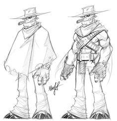 Orc Cowboy by ~DanteDemolition on deviantART